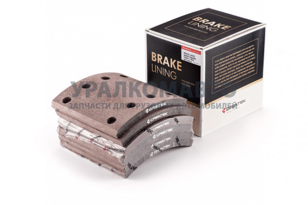 накладка тормозная задняя 184х188 (8 отверстий) качество Createk HOWO WG9200340068/CK8102